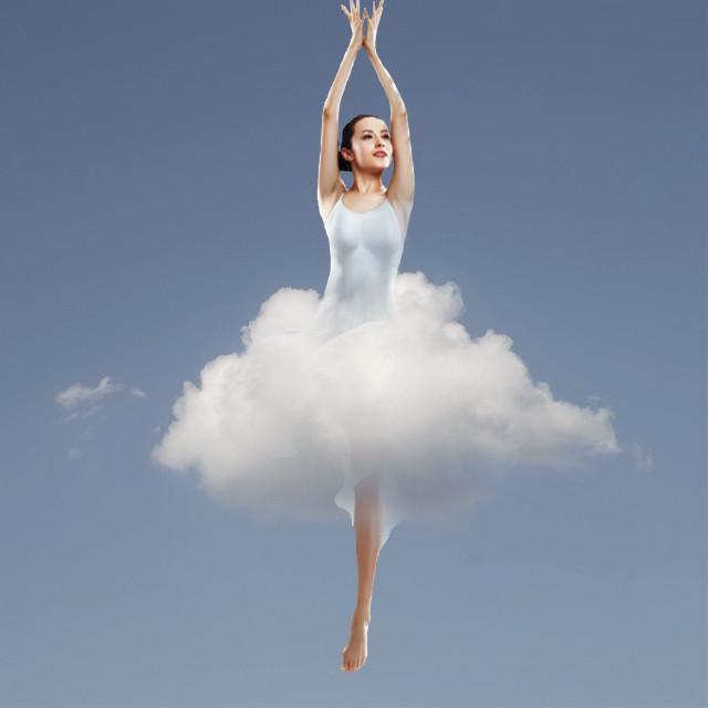 #freetoedit #ballerina #sky #cloud