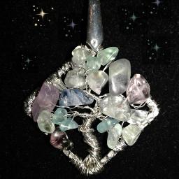treeoflife handmade fluoritetreeoflife wirejewelry purpleandgreen freetoedit