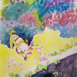 dog drawing watercolor art illustration