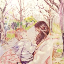 art friend mom son people freetoedit