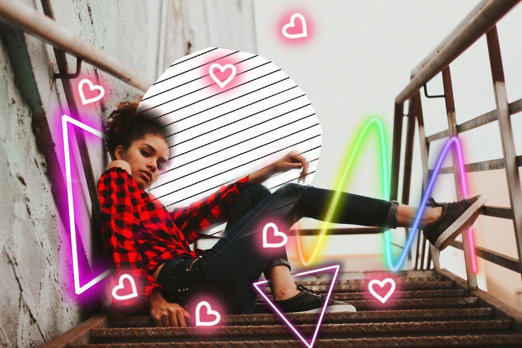 #freetoedit #lipstick #girl #pretty #heart #unicorn #freetoeditremix #remix #modern #new #line #lines #color