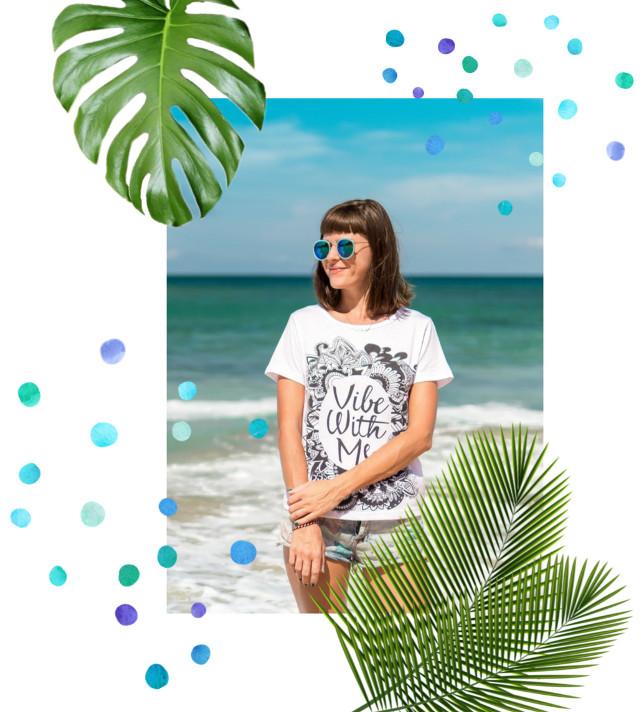 #freetoedit #summeriscoming #colors #palmleaves #dots