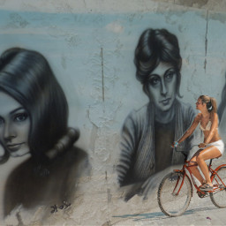 freetoedit ircbikeronthebeach bikeronthebeach wallpainting photography