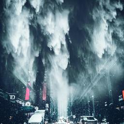 winter snowfall picsart nyc @picsart nyc