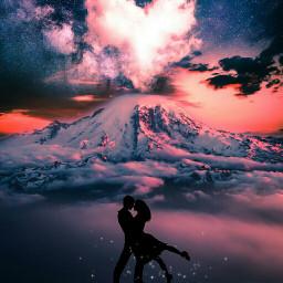 picsart silhouette lovers fantasy