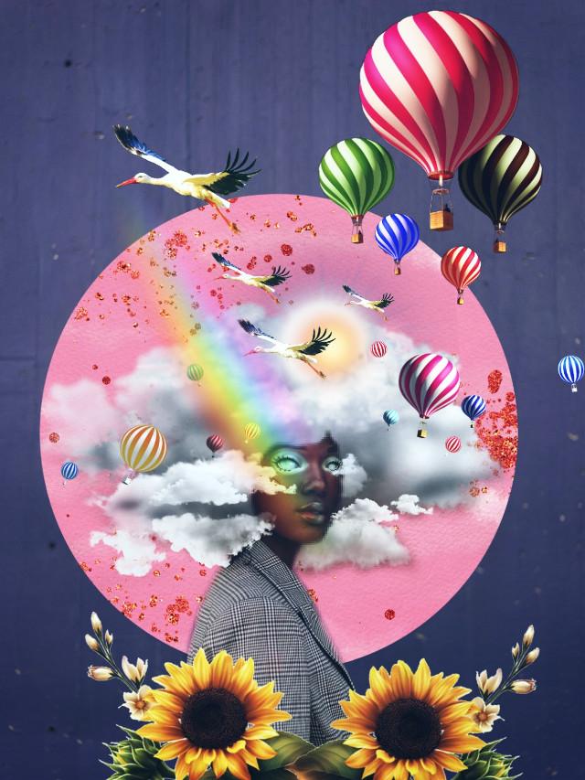 #freetoedit  #ircpurplerain #purplerain#myedit #inspiracion #airballoons #surreal#Fantasy#afro#sky#edition#art#Rainbow#delusion