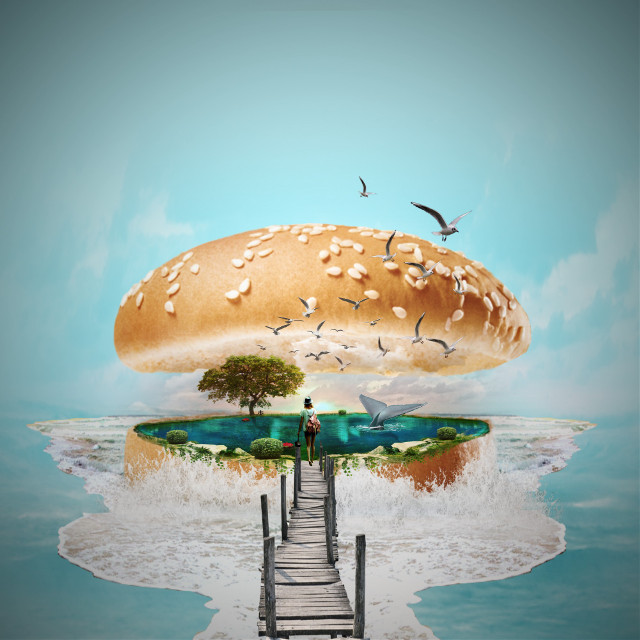 #freetoedit #island #hamburger