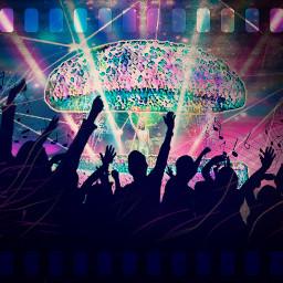 freetoedit concert stage crowd dj irchamburgerbun