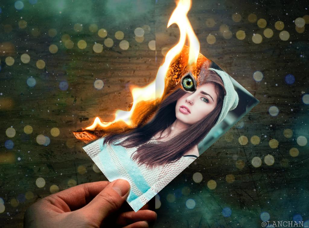 #freetoedit  #girl #girls #girlsilhouetteremix #fire #hand #angeledits #colbybrockedits #dslr @picsart