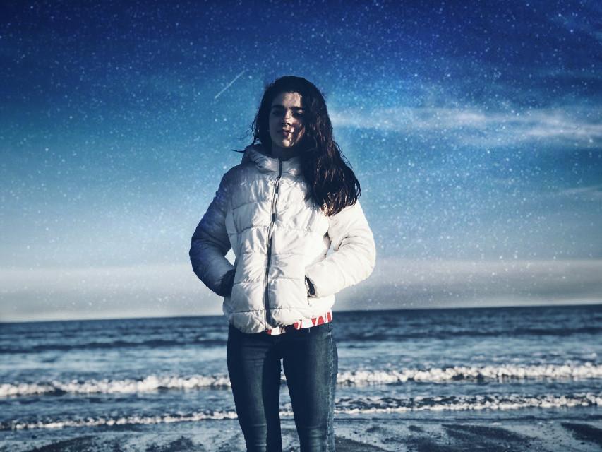 #freetoedit  #sea #galaxy #girls #holiday