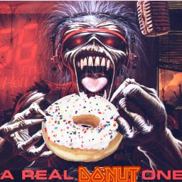 freetoedit ironmaiden metal ircdoughnutday doughnutday