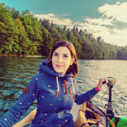 freetoedit lake woman beautiful pretty