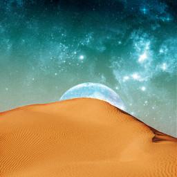 freetoedit moon stars constellations desert