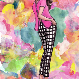 freetoedit woman colors colorpower art