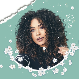 cute myedit iloveit curlyhair flowers girl smile madewithpicsart lovely
