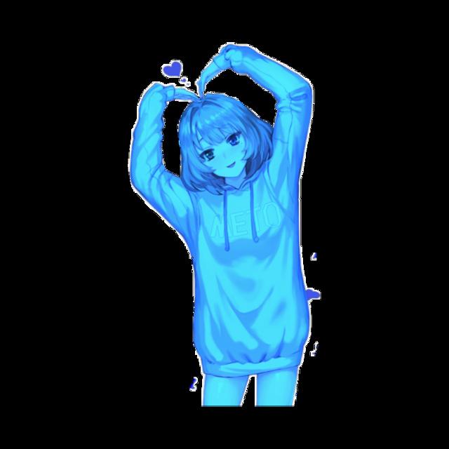 #Anime #animegirl #blue #lightblue