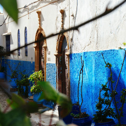 morocco street arabian alley narrow