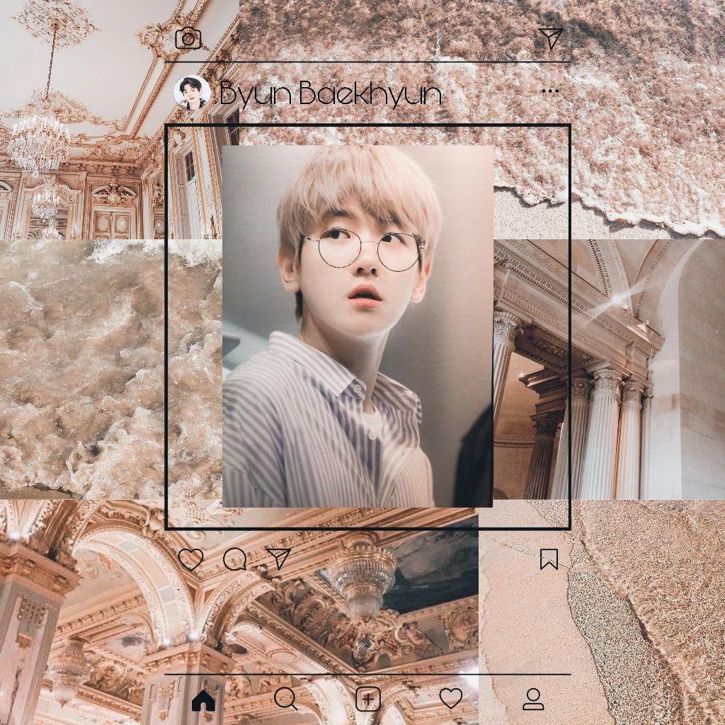 Kpop Kpopedit Exo Baekhyun Wallpaper Aesthetic Exol