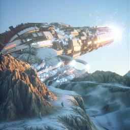 future cannon digitalart illustration render