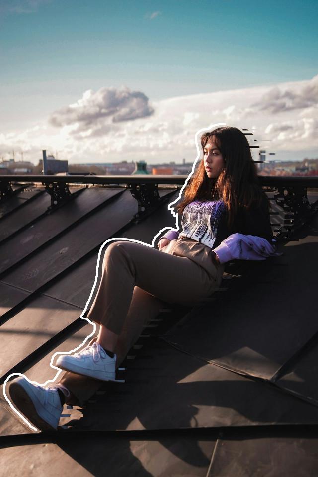 #freetoedit #remixit #minimal #like4like #girl #depressed #sky #picksart #babe #magical #hot #photoshoot #roof