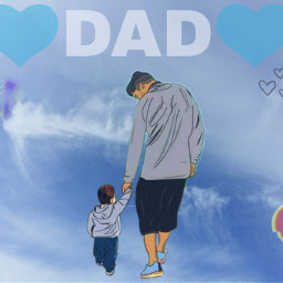 blue edit dad freetoedit