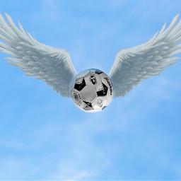 freetoedit sky ball wings picsart