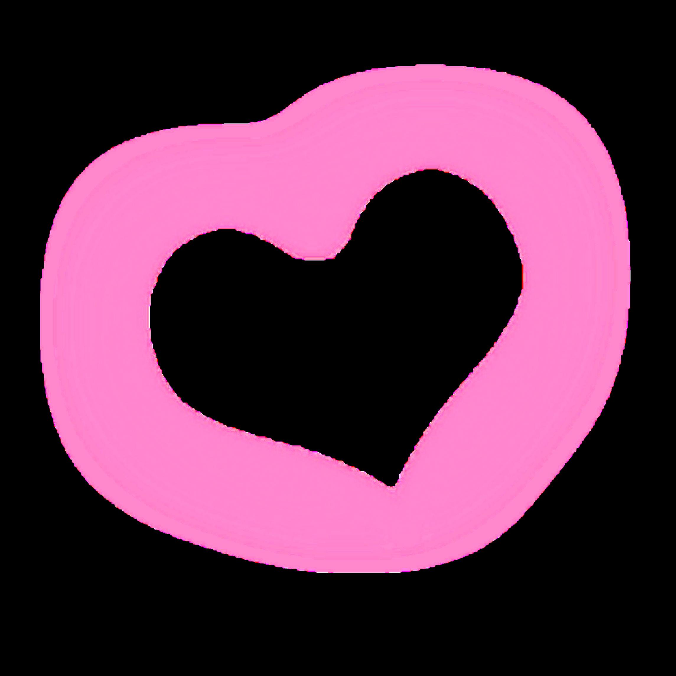 Ftestickers Heart Lighteffect Luminous Pink