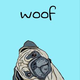 freetoedit pug puglove woof remixit