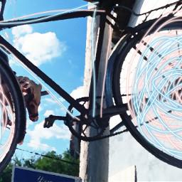 blueskyandclouds clouds bluessky bike antiquebike