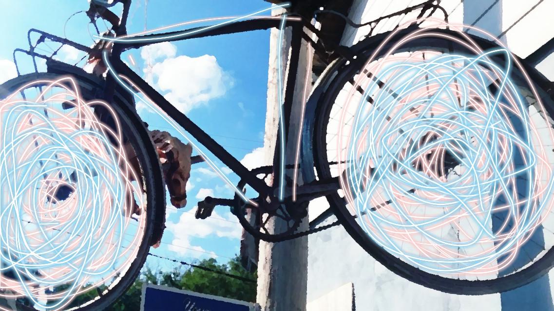 #blueskyandclouds #clouds #bluessky #bike #antiquebike