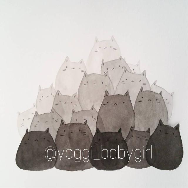 #cute #kittens #kittys #art #my_art #cats