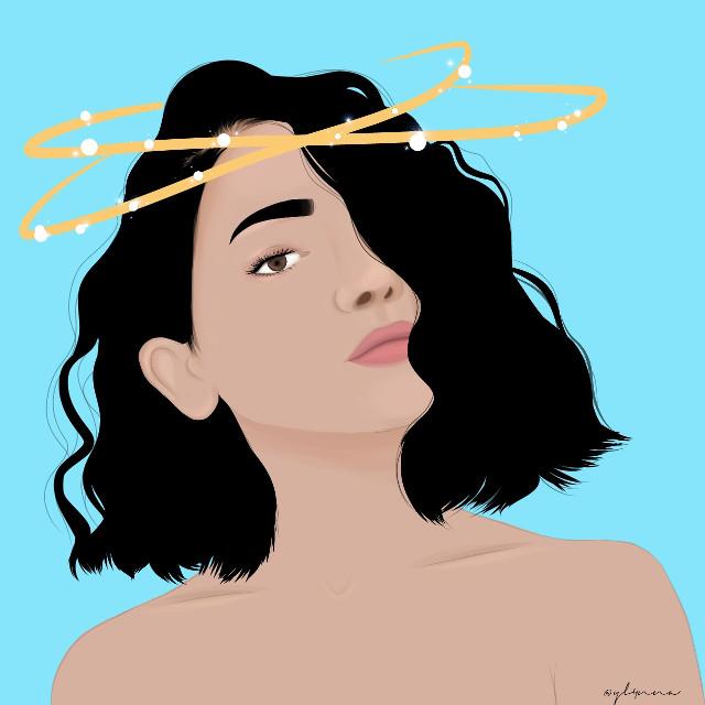https://youtu.be/b8YBq1XOmDA  #girl #drawing #blue  #freetoedit