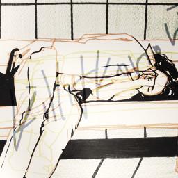 art people illustration drawing subway