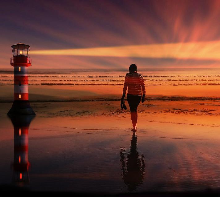 #freetoedit  #lighthouse #water  #pixabayimage