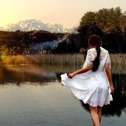 freetoedit nature lake happy doubleexsposure
