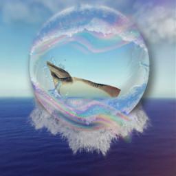 freetoedit ocean orb rainbow waves