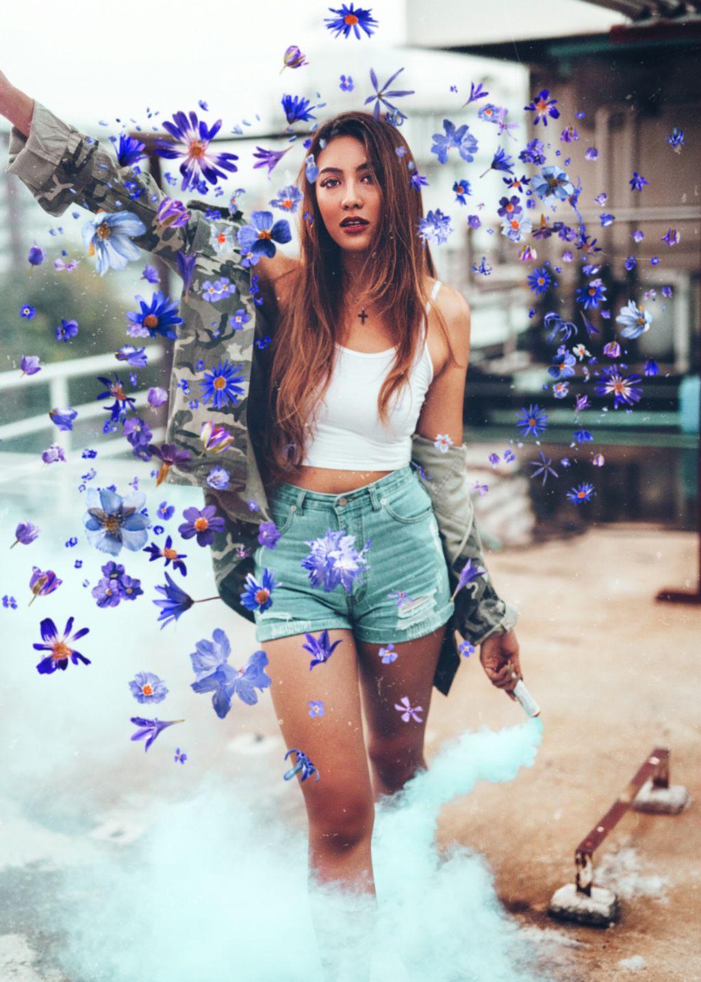 #freetoedit #girl #purple