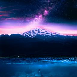 picsart galaxy stars landscape underwater