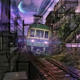 train travel pencilart lightmask freetoedit