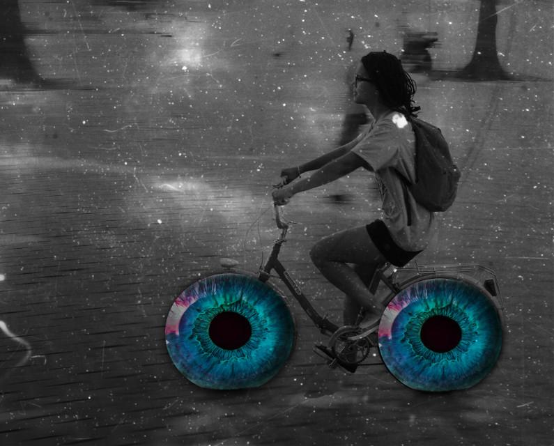 Let's go!!! #postphotography #art #blueeyes #bicycle
