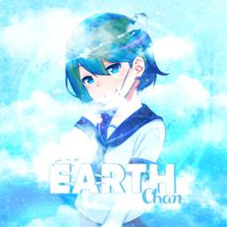 freetoedit earth earth-chan chan anime