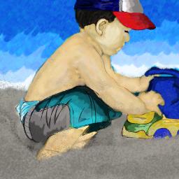 freetoedit dcbeachday beachday drawing