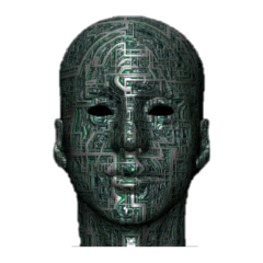 cyborg robot mechanical face freetoedit