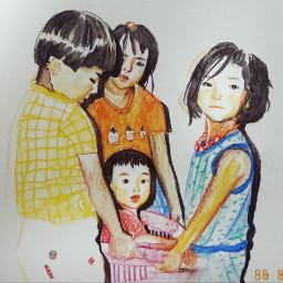 art drawing illustration family 1988