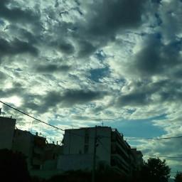 neasmirni greece clouds cloudysky skyscrapers