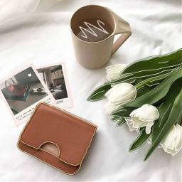 coffee wallet white bright tulips freetoedit