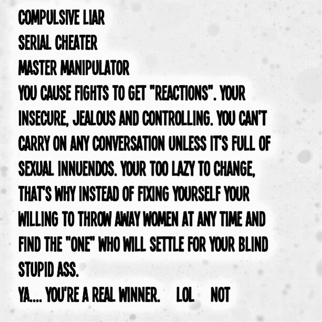 Compulsive liar and cheater