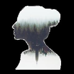freetoedit ftestickers woman silhouette doubleexposure