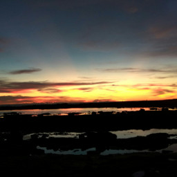 sunset panorama sun sea beach