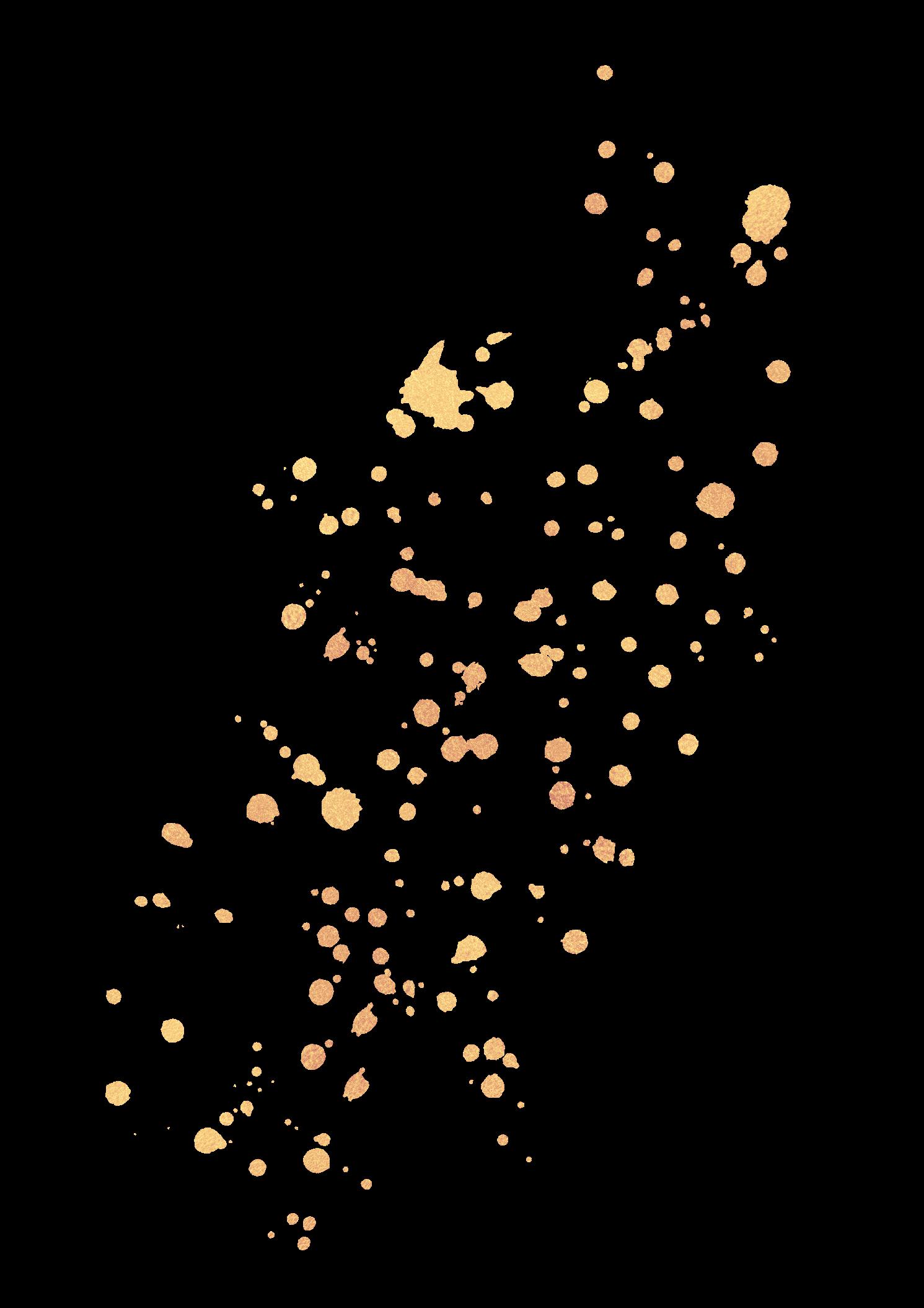 Gold Splatter Glitter Overlay Ftestickers
